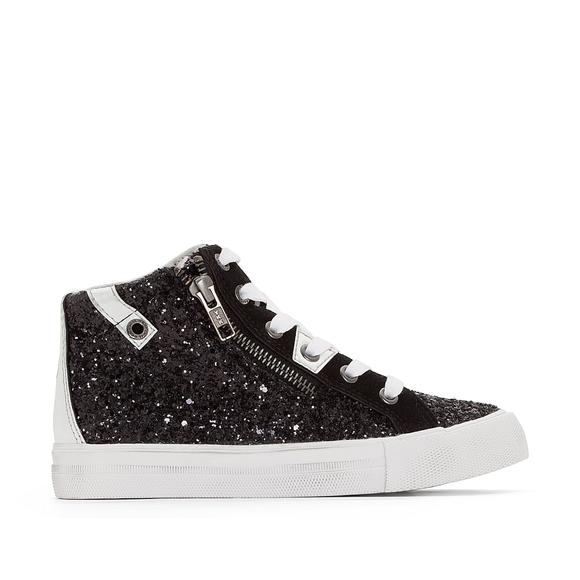 Ambrosio Glittery High Top Trainers