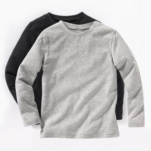 Pack of 2 Boy's Long-Sleeved T-Shirts