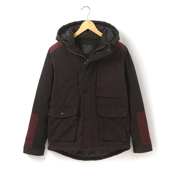 Two-Tone Hooded Parka
