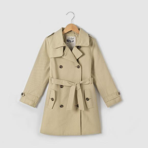 Belted Cotton Twill Trench Coat, 3-12 Years