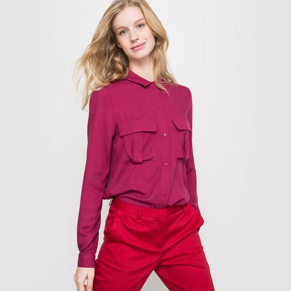Long-Sleeved Shirt with Breast Pockets