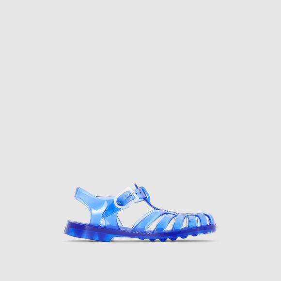 Plastic Jelly Sandals with Strap