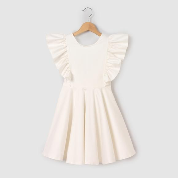 Sleeveless Child's Cotton Dress with Bow