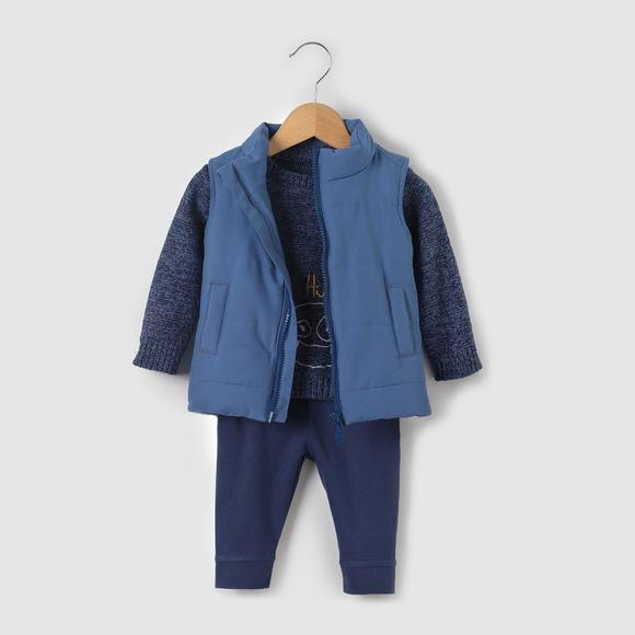 Jumper/Sweater, Bodywarmer and Leggings Outfit, 1 Month - 3 Years