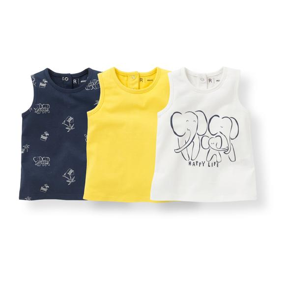 Pack of 3 Vest Tops, 1 Month-3 Years