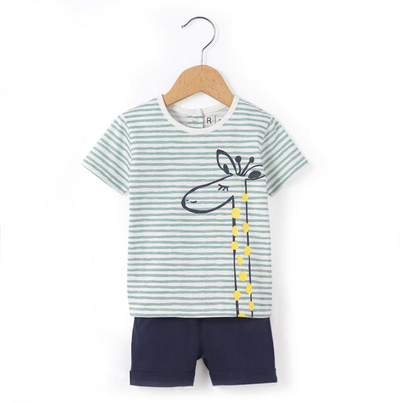 T-Shirt and Shorts Outfit, 1 Month-3 Years